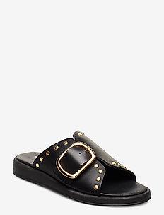 Angela - flade sandaler - black