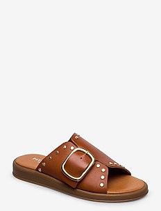 Angela - flade sandaler - tan