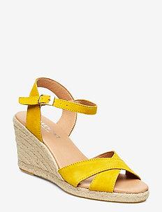 Dorit - højhælede espadrillos - yellow suede #19