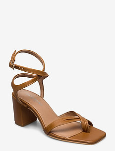 Aisha - høyhælte sandaler - tan