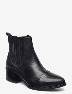 Julia - ankelstøvler med hæl - black