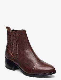Julia - ankelstøvler med hæl - tan