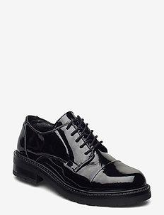 Lerche Patent - buty sznurowane - black patent