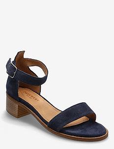 Enzo - højhælede sandaler - navy suede