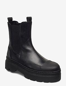 Viola rubber - chelsea støvler - black garda