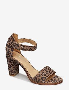 Silke - sandalen met hak - leopard suede