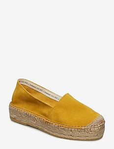 Ida - flade espadrillos - yellow suede