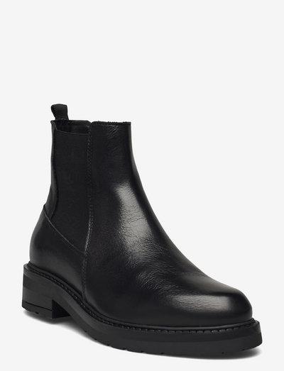 Jemma - chelsea støvler - black