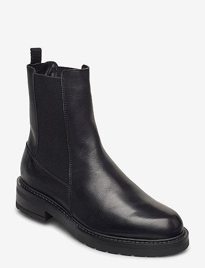 Jemma Long wool - chelsea støvler - black garda