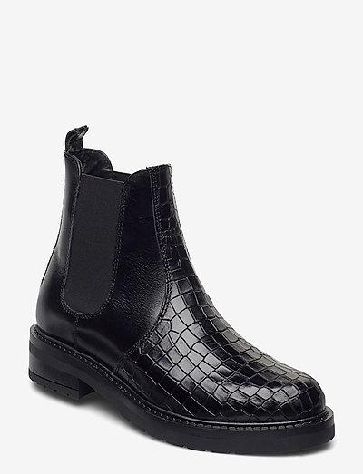 Maria two polido - chelsea støvler - black croco