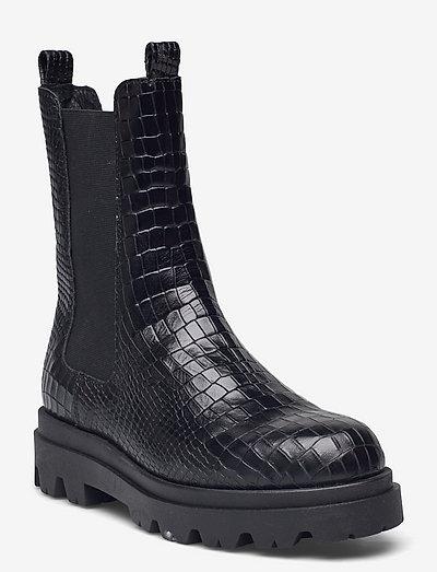 Sia croco - chelsea boots - black croco