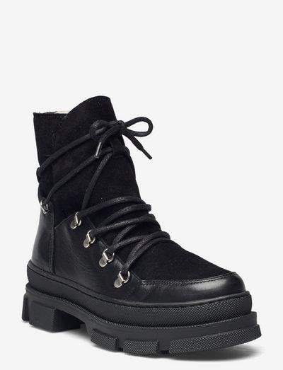 Kiara wool - flade ankelstøvler - black