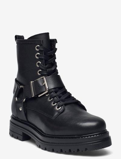 Adelina - flade ankelstøvler - black garda