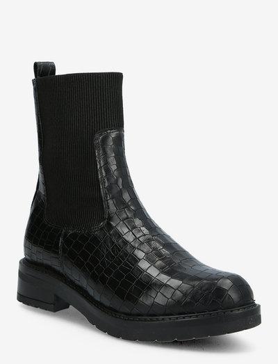 Marcella - chelsea boots - black croco