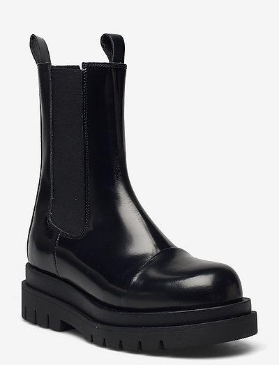 Nicola polido - chelsea boots - black polido