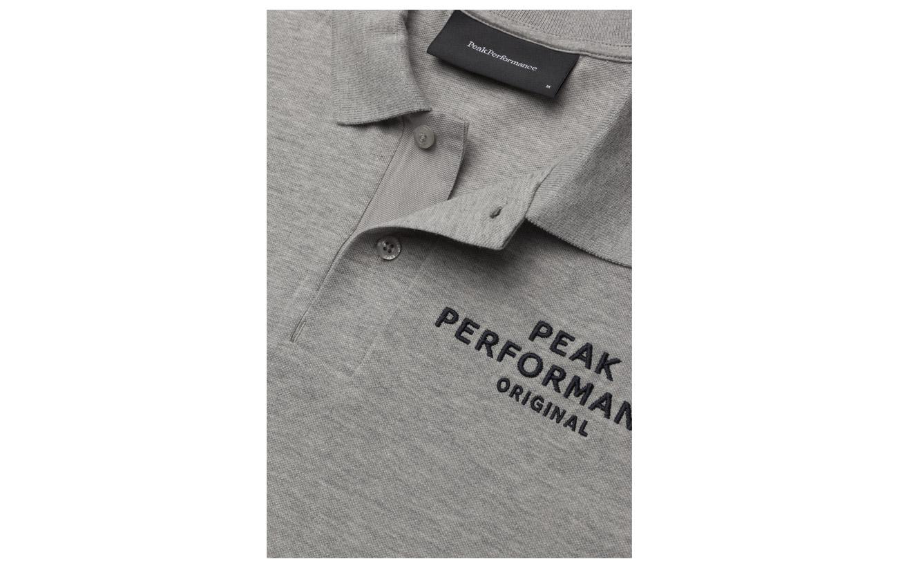 Peak Mel Performance Logo Med Grey Pique BzTrA