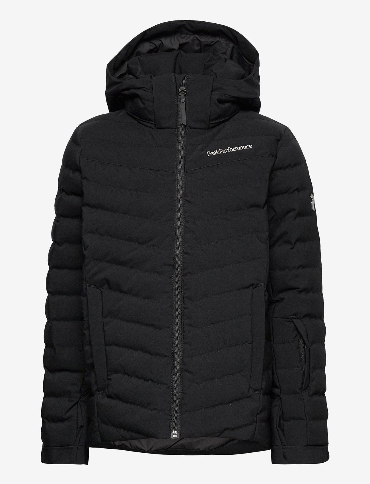 Peak Performance - Jr Frost Ski Jacket Cold Blush - geïsoleerde jassen - black - 0