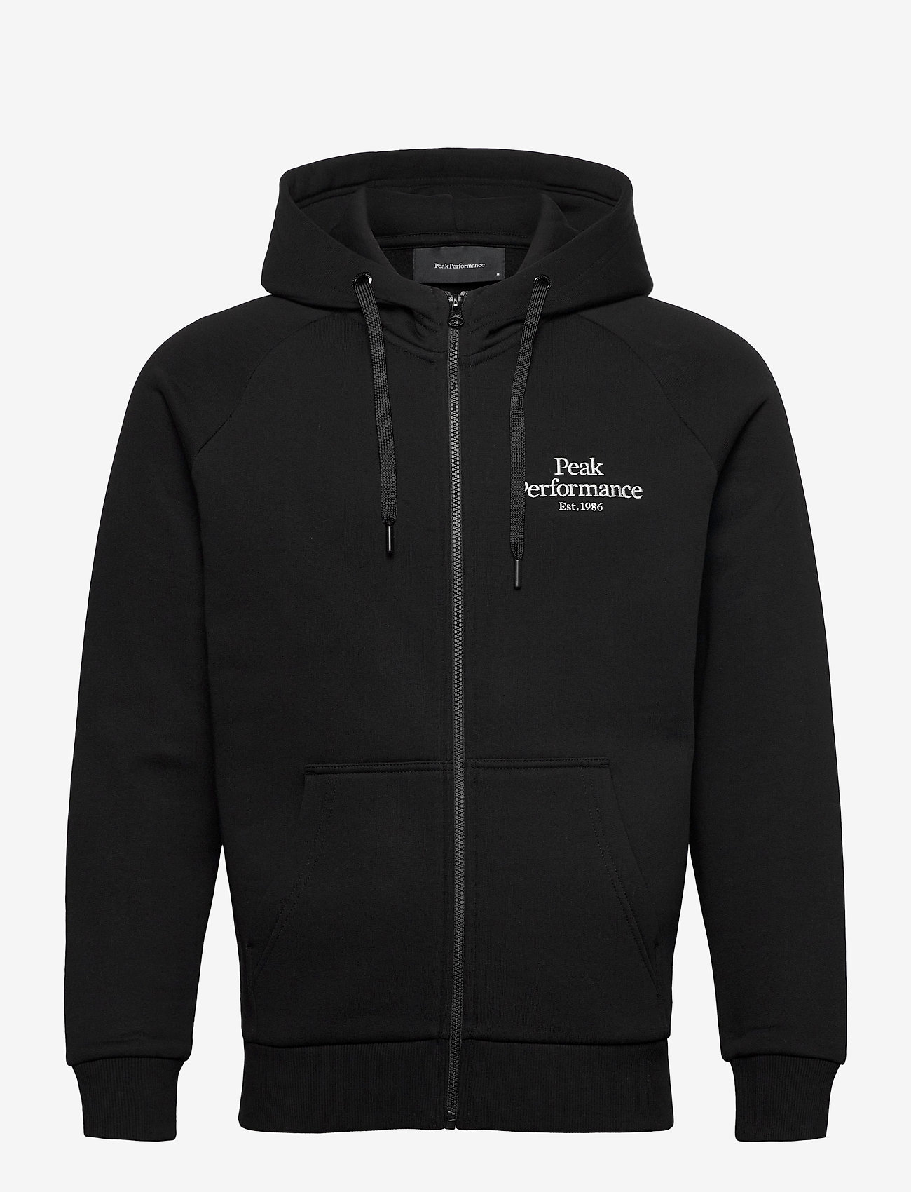 Peak Performance - M Original Zip Hood The Alpine - basic sweatshirts - black - 0