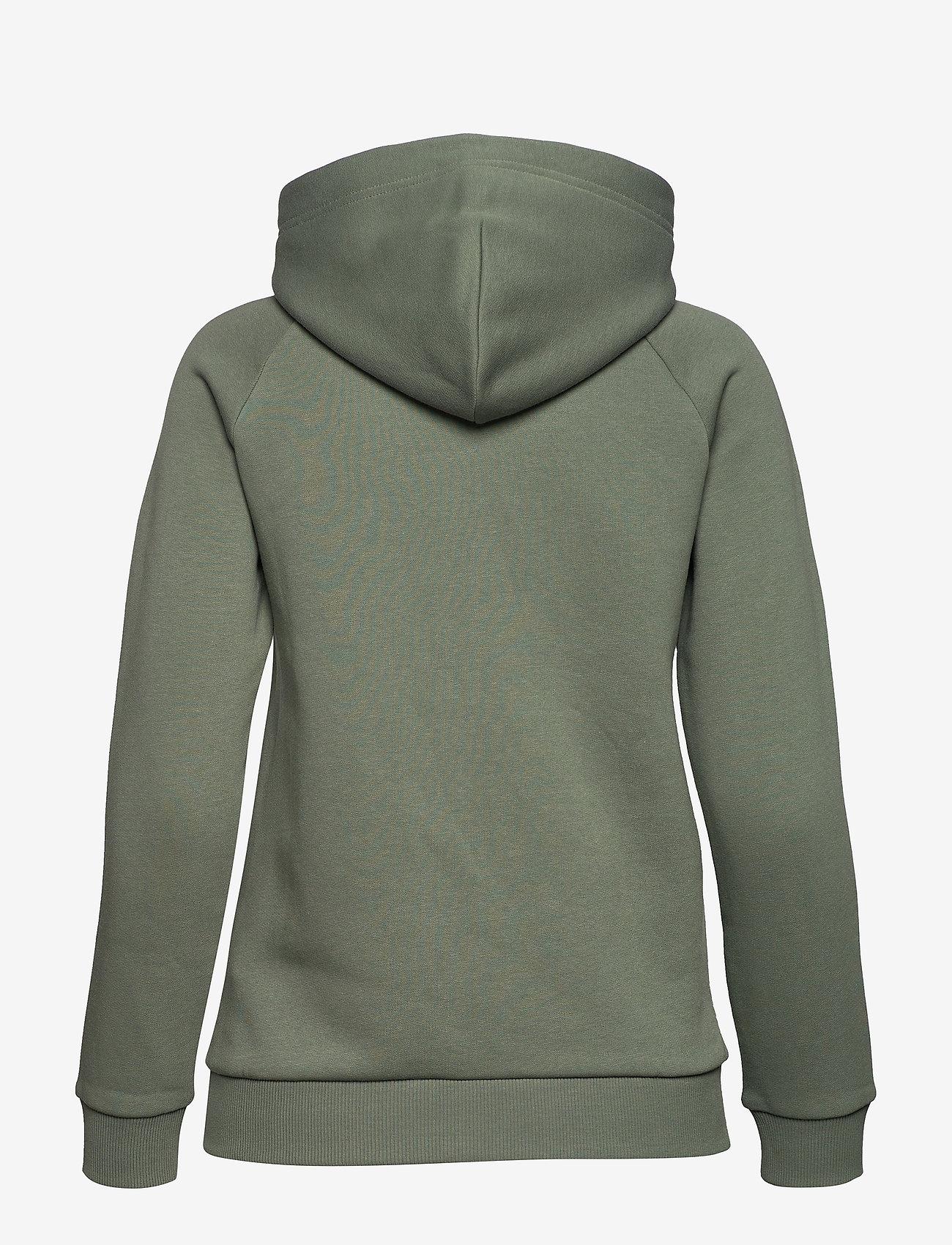 Peak Performance - W Original Zip Hood Med Grey Mel - hupparit - fells view - 1