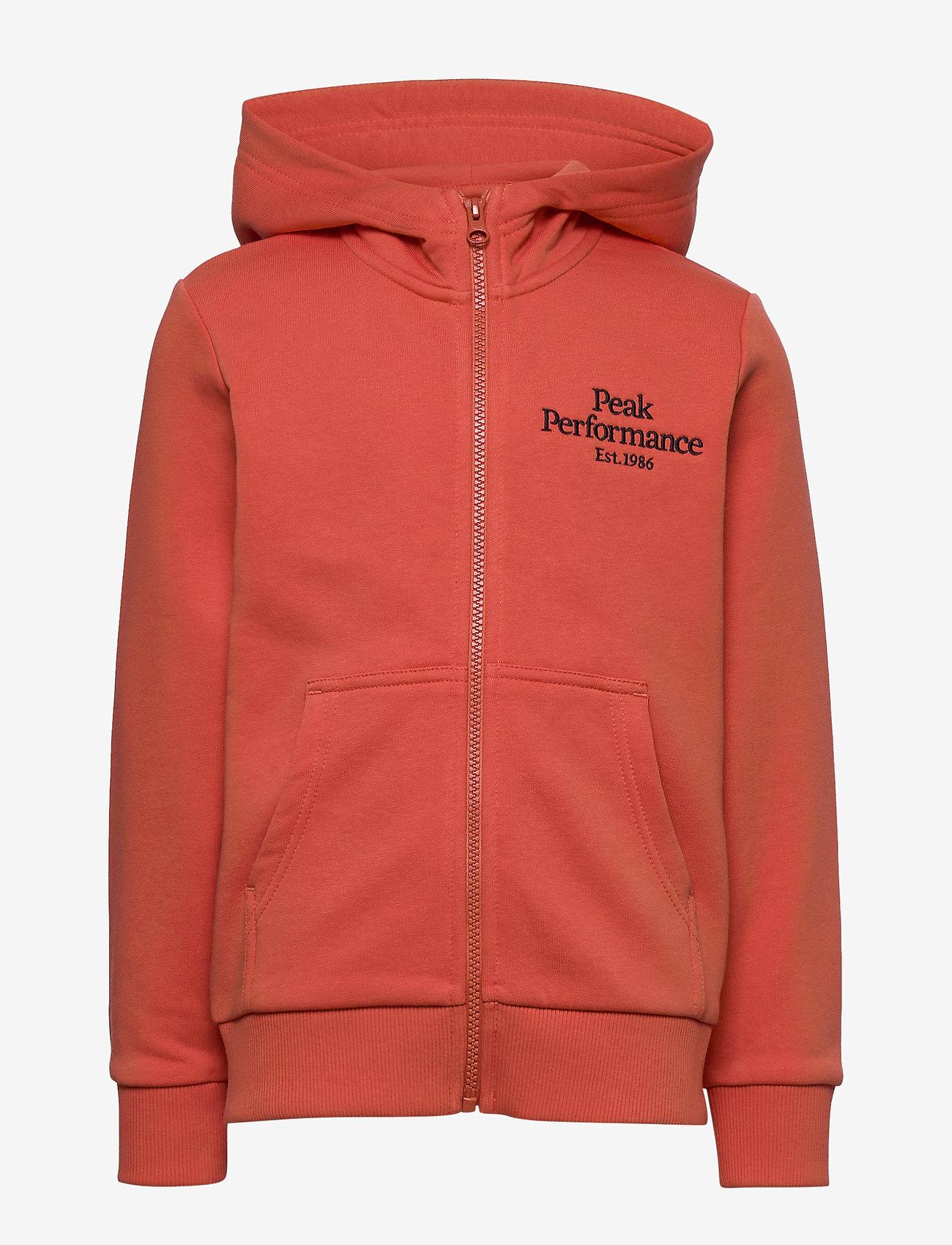 Peak Performance - JR Original Zip Hood - kapuzenpullover - clay red - 0