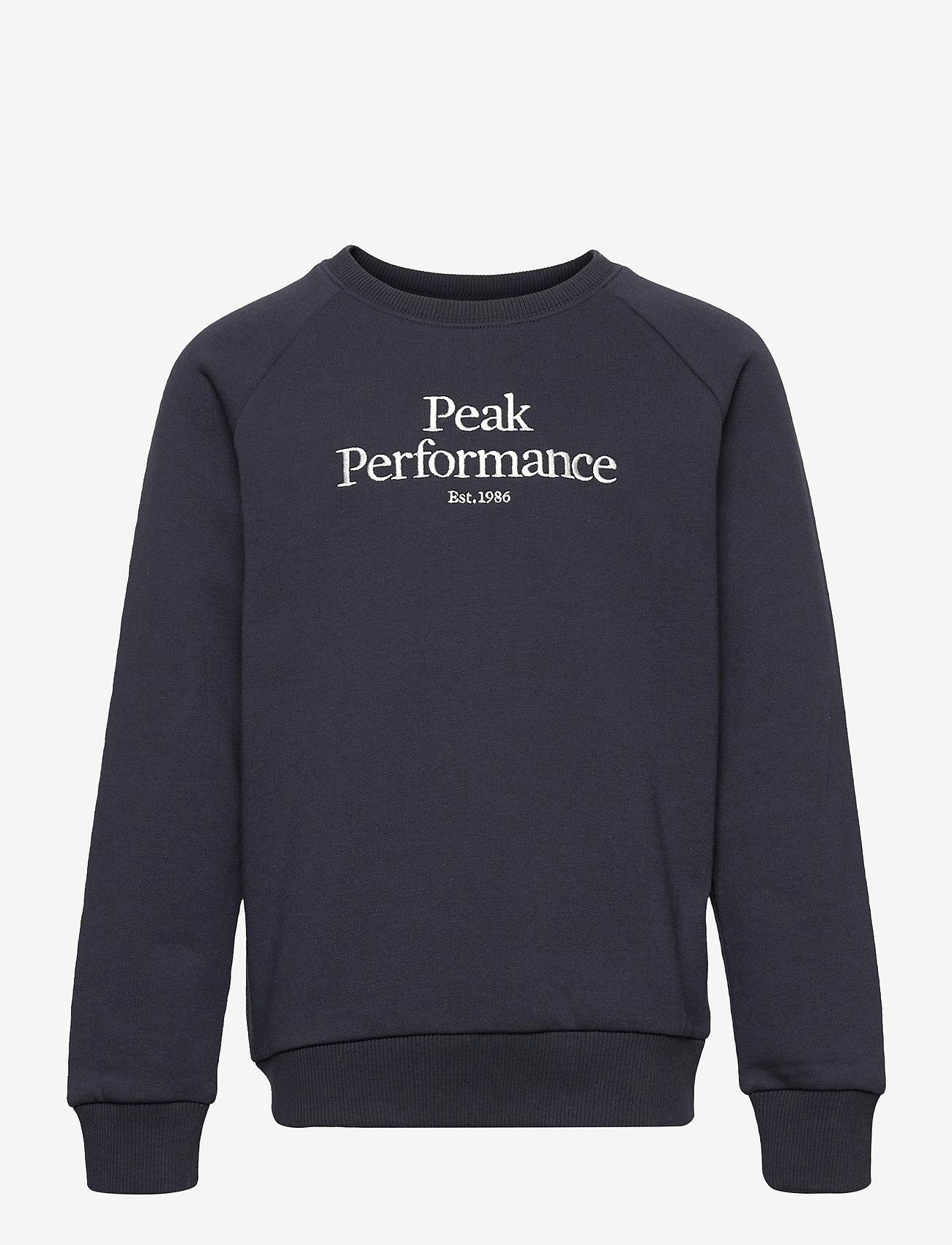 Peak Performance - Jr Original Crew - sweatshirts - blue shadow - 0