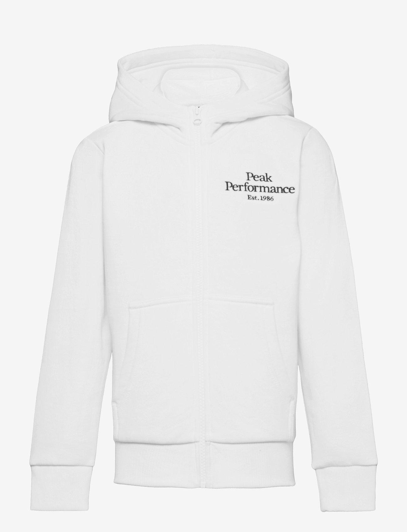 Peak Performance - Jr Original Zip Hood - pulls a capuche - white - 0