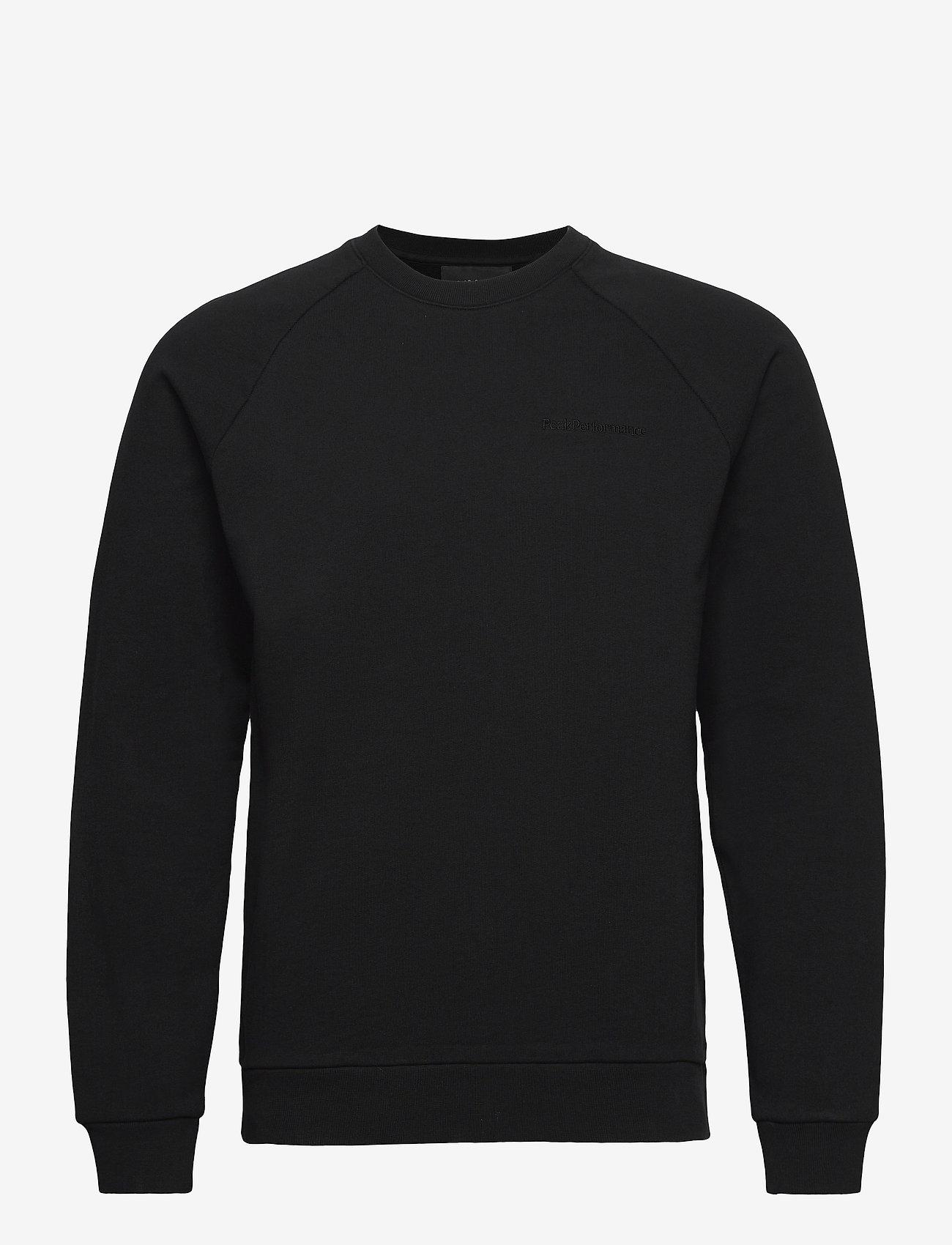 Peak Performance - M Moment Crew - sweaters - black - 0