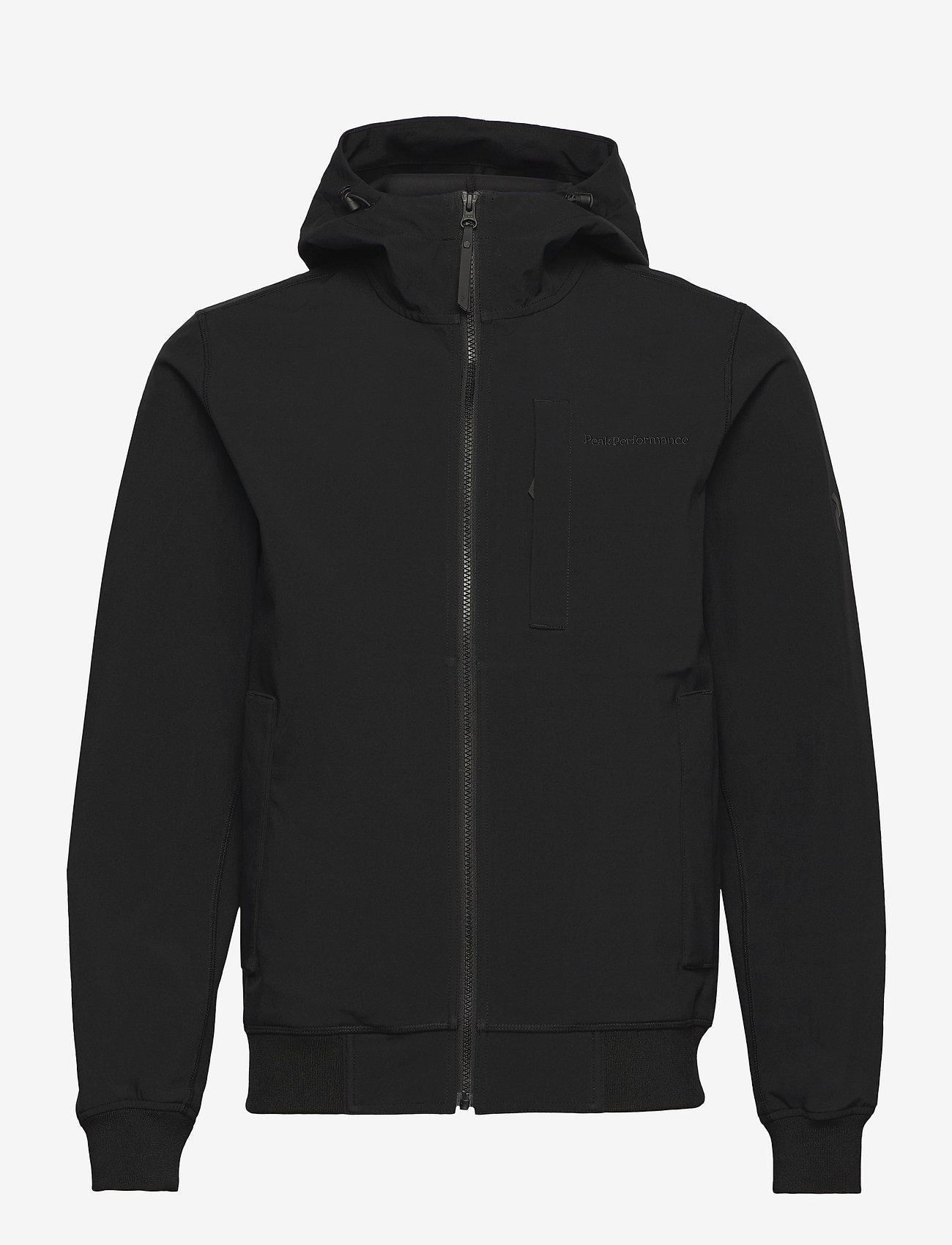 Peak Performance - M Softshell Hood Jacket - wandel- en regenjassen - black - 0