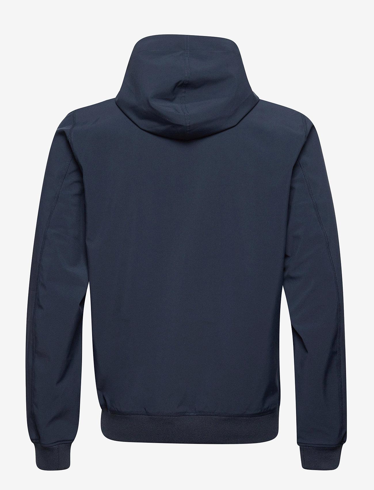 Peak Performance - M Softshell Hood Jacket - ulkoilu- & sadetakit - blue shadow   dark haze - 1