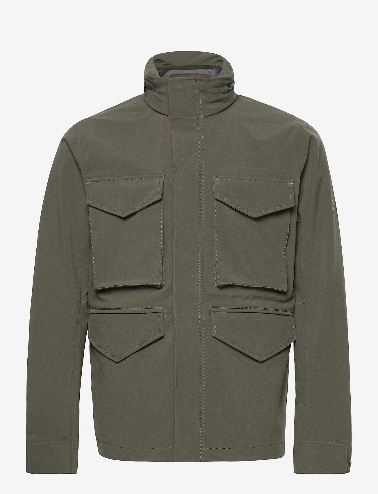 Peak Performance - M Softshell Field Jacket - ulkoilu- & sadetakit - black olive   deep earth - 0