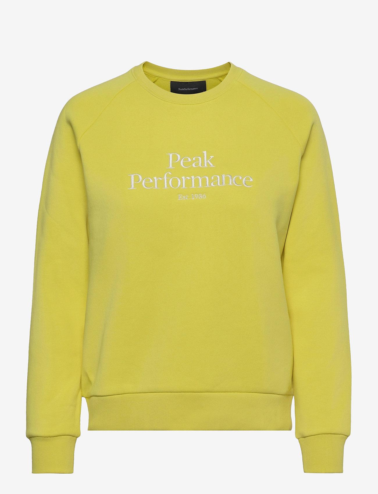 Peak Performance - W Original Crew - svetarit - citrine - 0