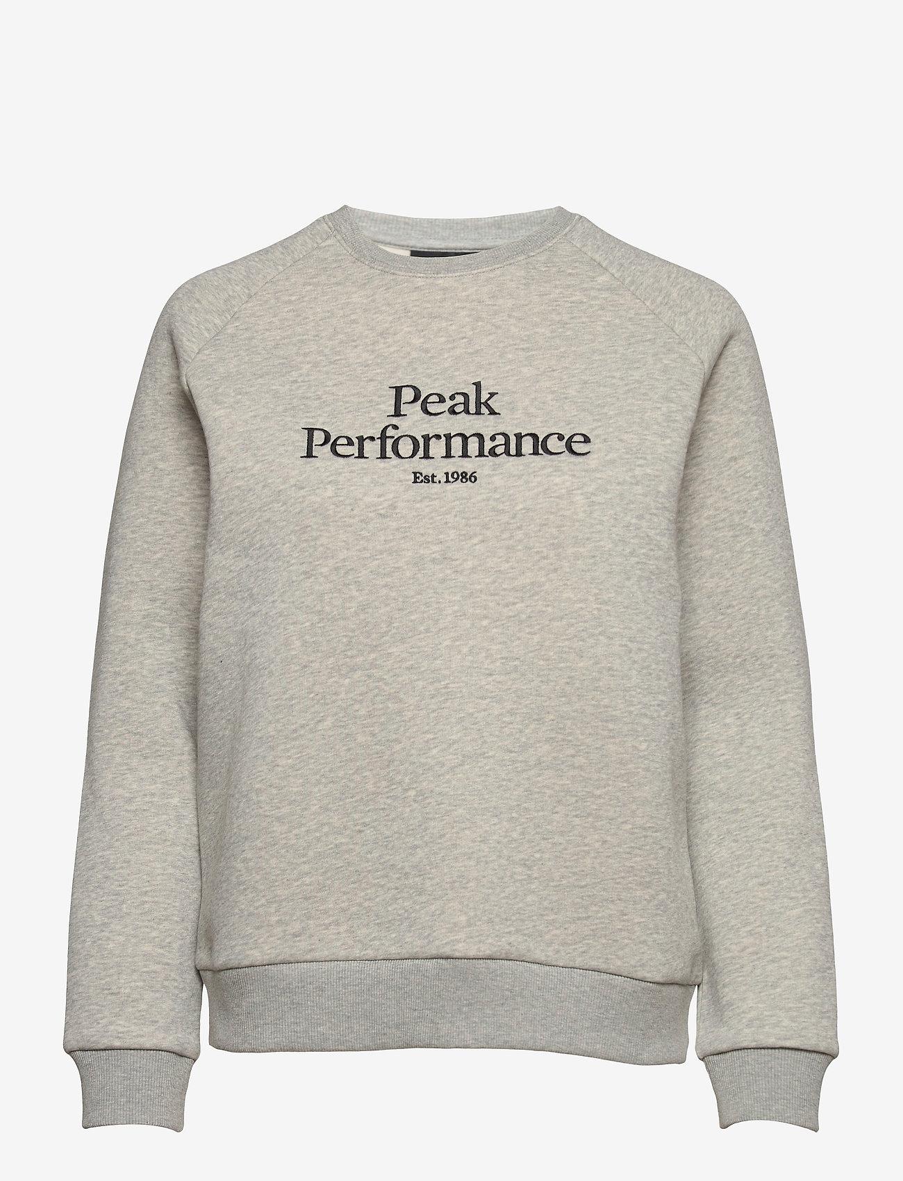 Peak Performance - W Original Crew - svetarit - med grey melange - 0