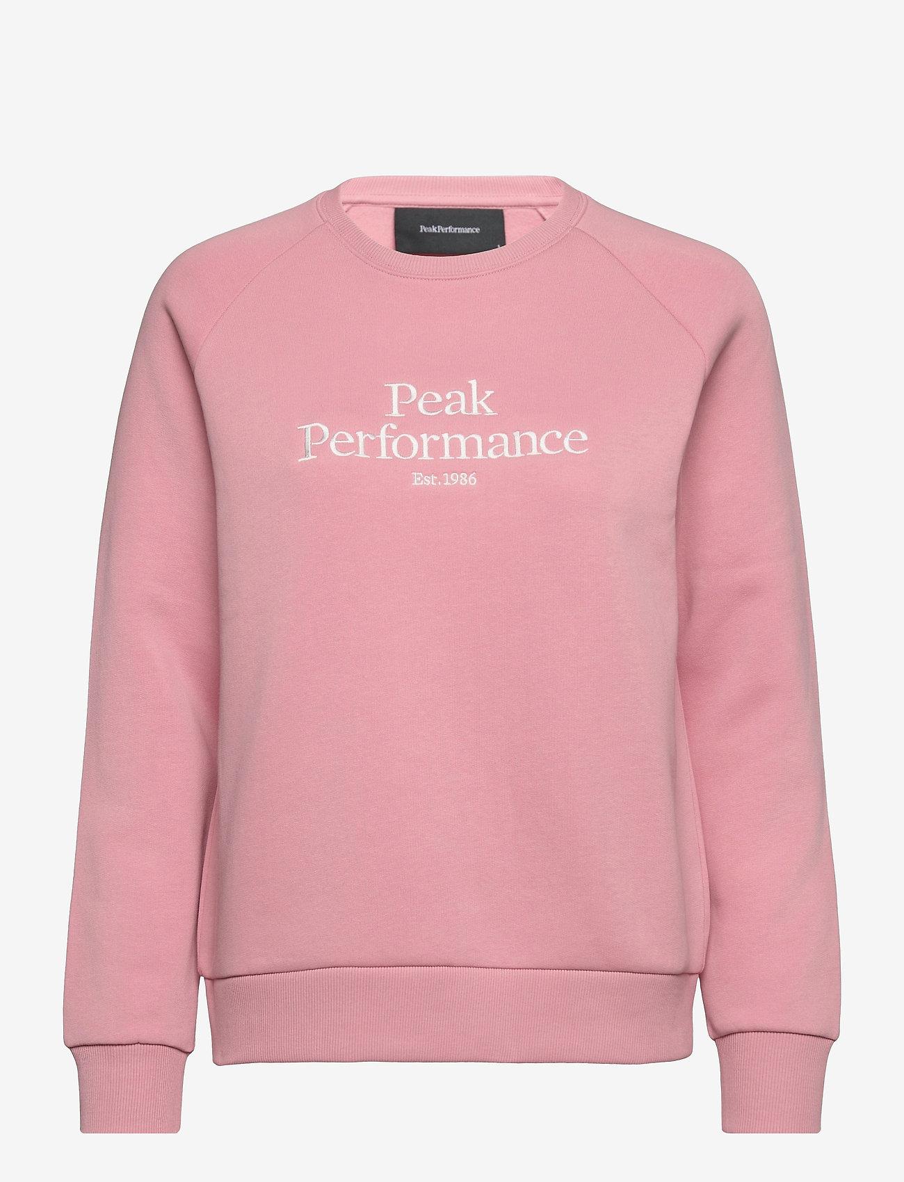 Peak Performance - W Original Crew - svetarit - warm blush - 0