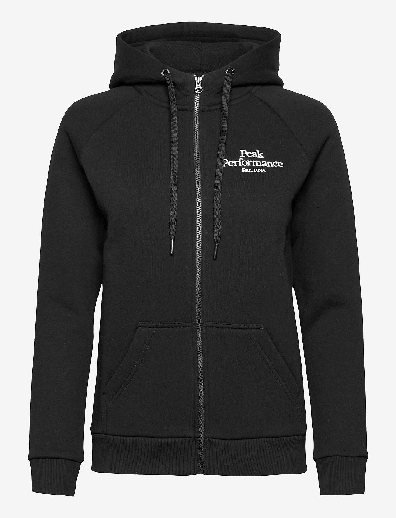 Peak Performance - W Original Zip Hood - hupparit - black - 0