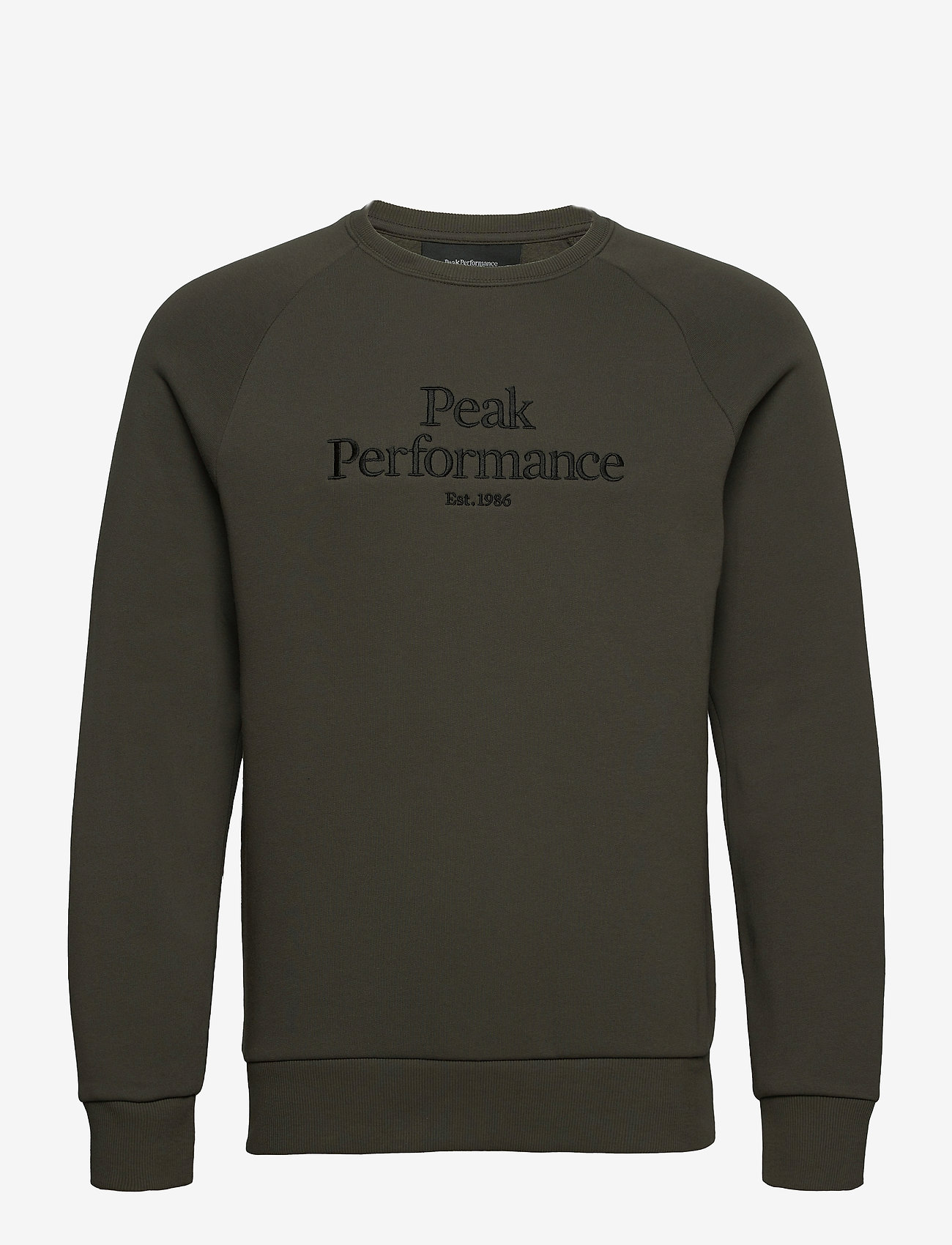 Peak Performance - M Original Crew - yläosat - black olive - 0