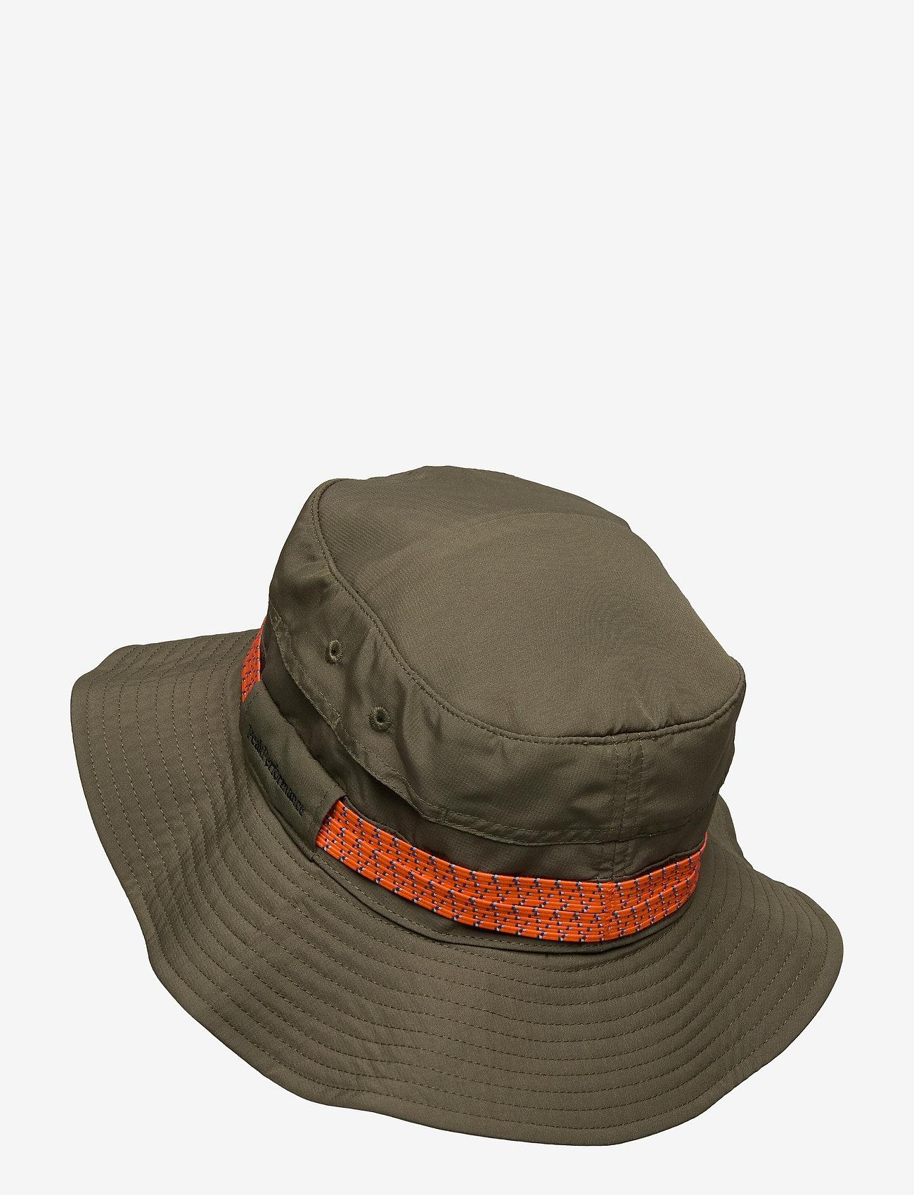 Peak Performance - Safari Hat - bucket hats - black olive - 1
