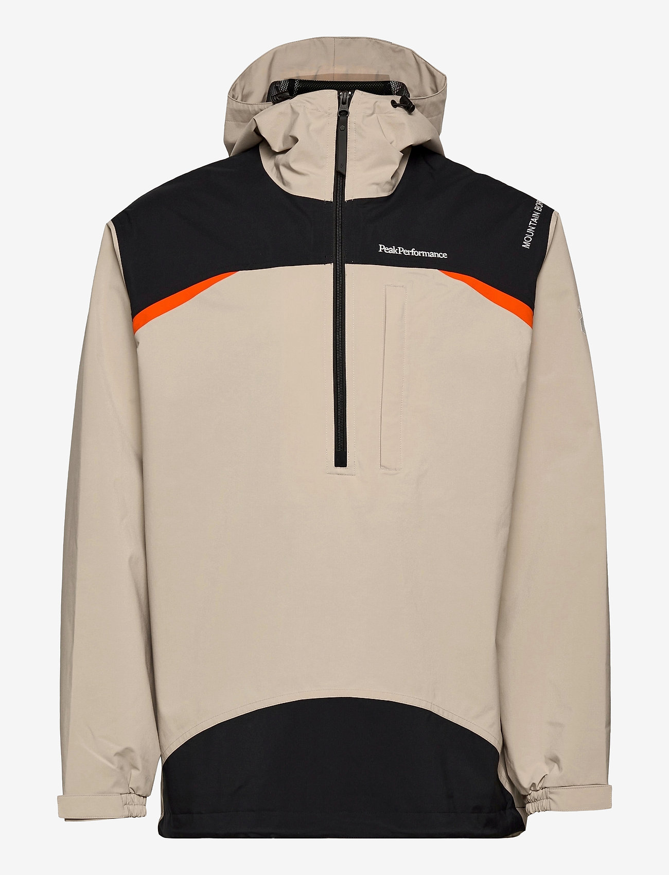 Peak Performance - M Stowaway Anorak - vestes d'extérieur et de pluie - celsian beige   black   super nova - 0