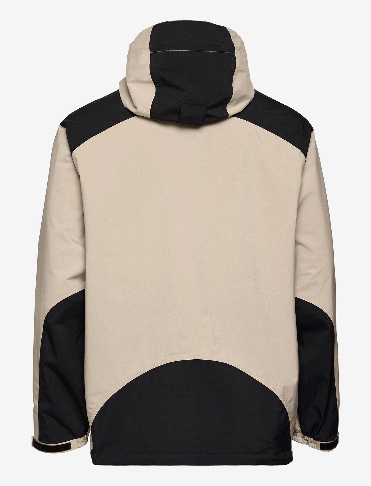 Peak Performance - M Stowaway Anorak - vestes d'extérieur et de pluie - celsian beige   black   super nova - 1