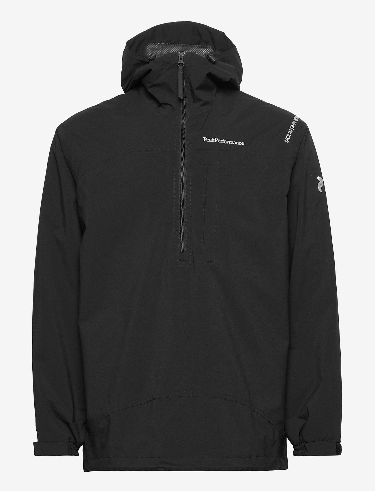 Peak Performance - M Stowaway Anorak - vestes d'extérieur et de pluie - black - 0