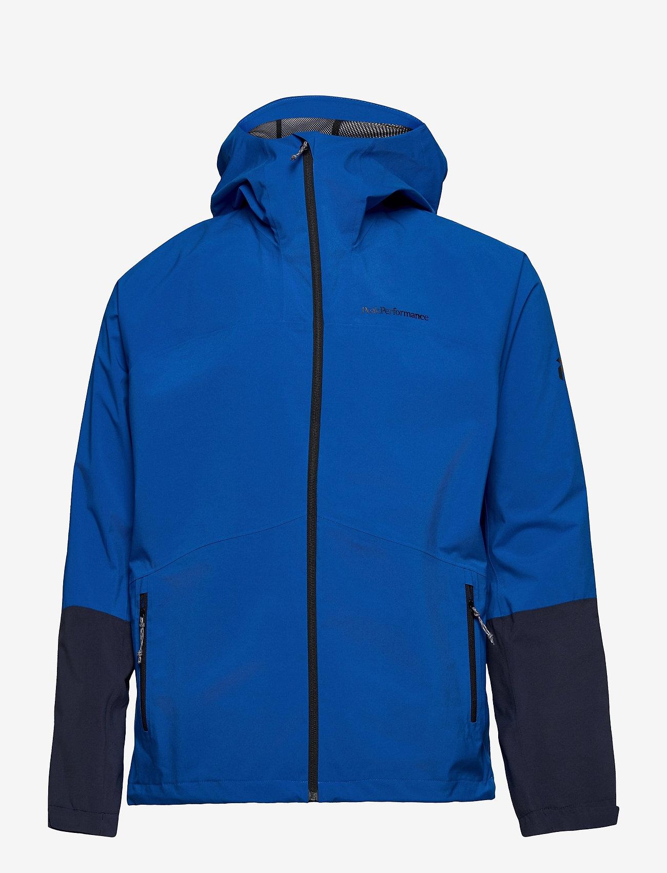 Peak Performance - M Nightbreak Jacket - ulkoilu- & sadetakit - arctic blue   blue shadow - 0