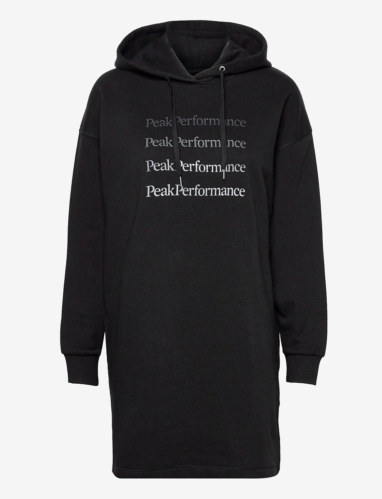Peak Performance - W Ground Hood Dress - vapaa-ajan mekot - black - 0