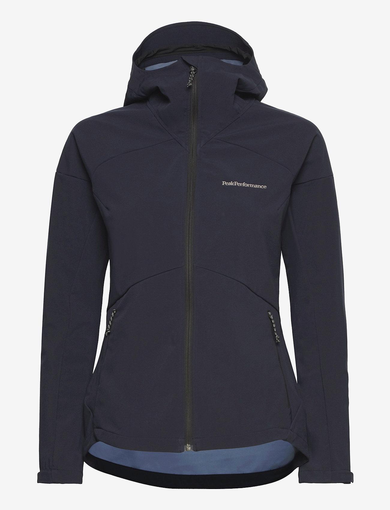 Peak Performance - W Adventure Hood Jacket - ulkoilu- & sadetakit - blue shadow - 0