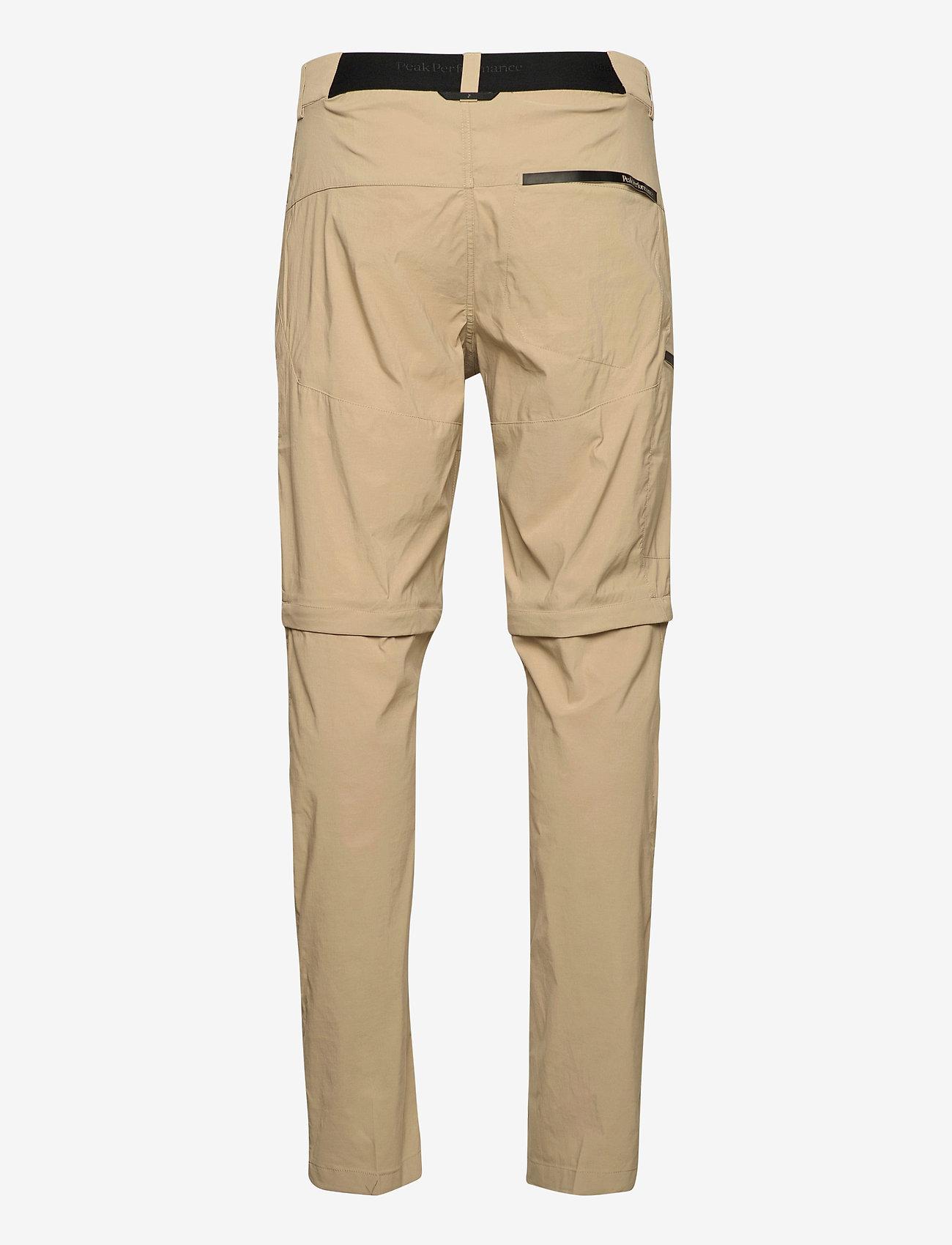 Peak Performance - M Iconiq Zip Off Pant - pantalon de randonnée - true beige - 1