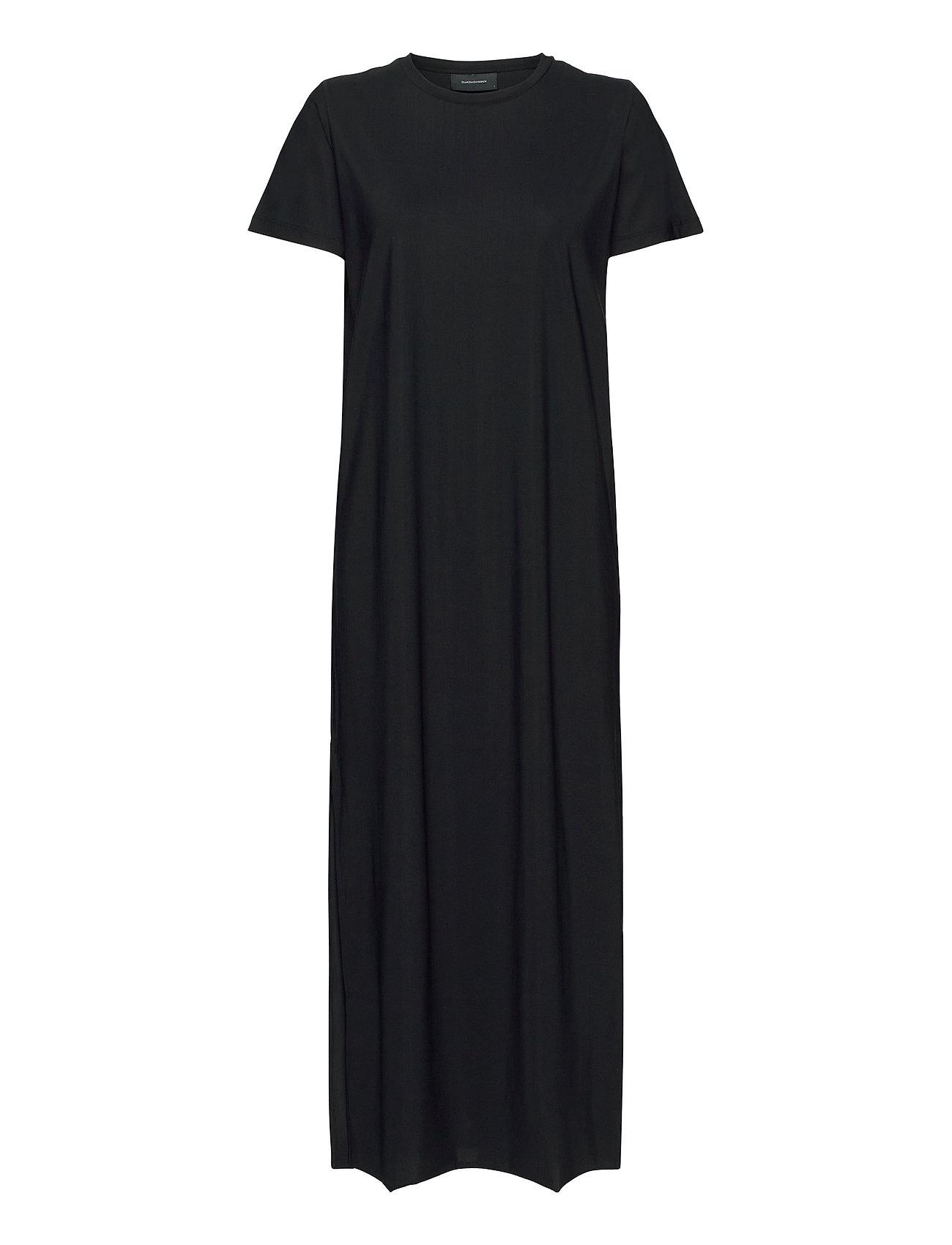 Image of W Sense Tee Dress Maxikjole Festkjole Sort Peak Performance (3421209201)