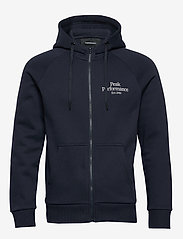 Peak Performance - M Original Zip Hood - perus-college-paitoja - blue shadow - 0