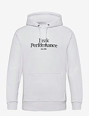 Peak Performance - M Original Hood Blue Elevation - hoodies - white - 0