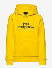Peak Performance - JR Original Hood - kapuzenpullover - stowaway yellow - 0