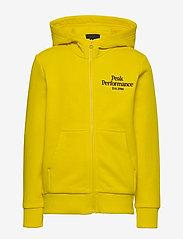 Peak Performance - JR Original Zip Hood - kapuzenpullover - stowaway yellow - 0