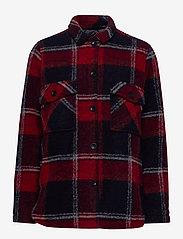 Peak Performance - W Kelly Shirt Jacket Tricolour - wool midlayer - tricolour - 0