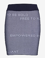 Peak Performance - W Jaquard Skirt - sports skirts - blue shadow - 0